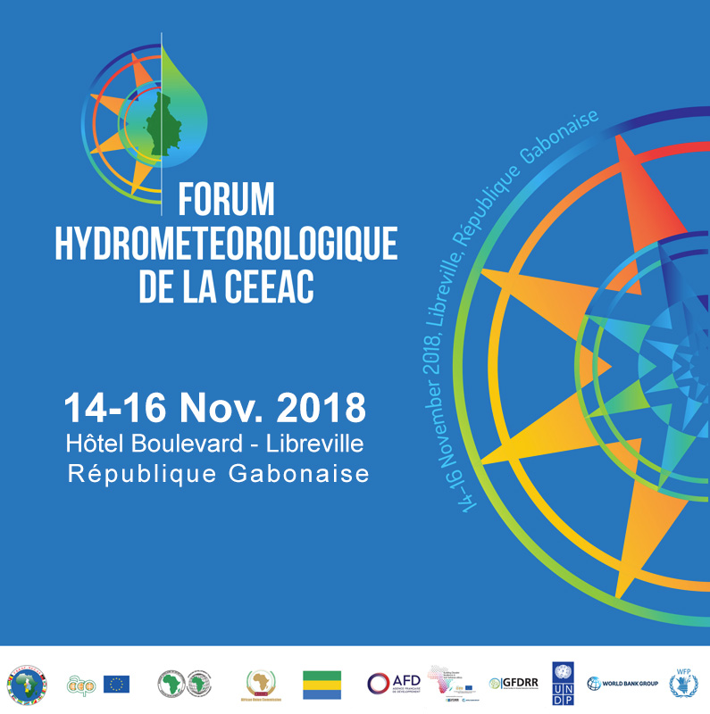 1er FORUM HYDROMETEOROLOGIQUE AFRIQUE CENTRALE background